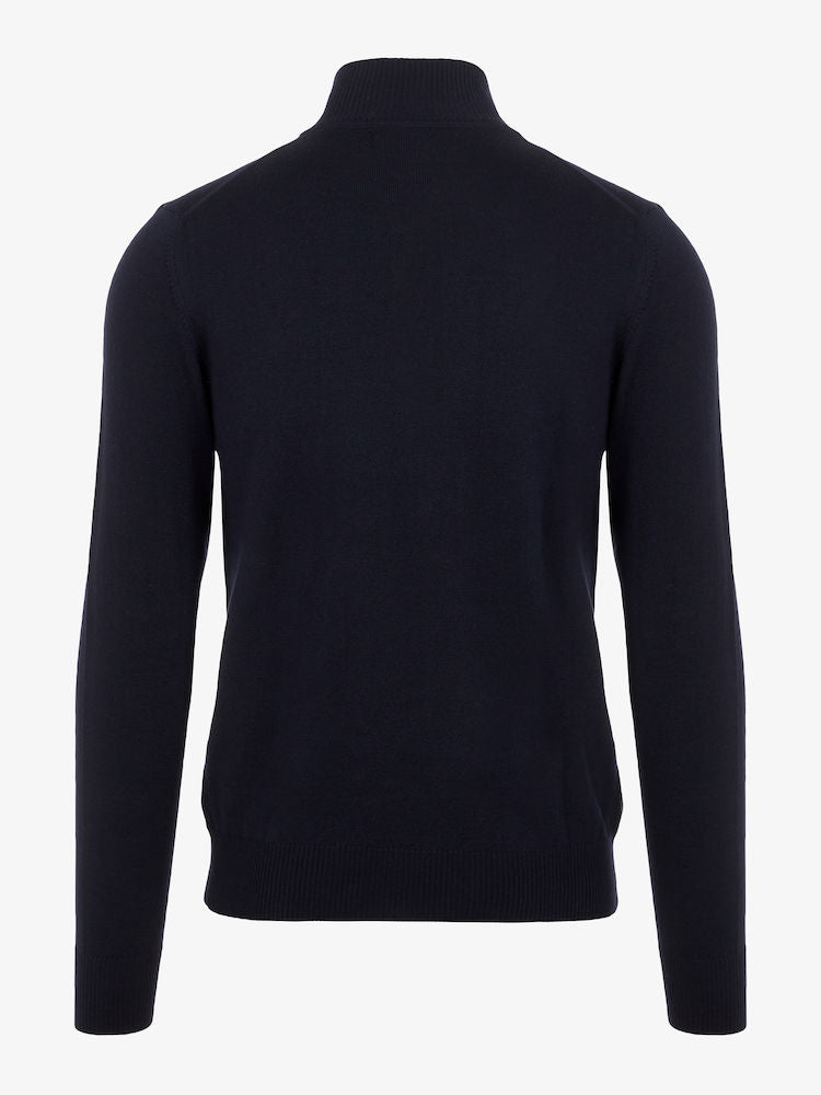 LANE MERINO QUATER ZIP SWEATER  Jl Navy
