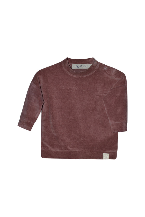 ASH VELOUR SWEATER  Dark Ginger