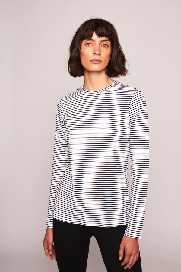 THE ANDREA LONGSLEEVE  Blue Stripe