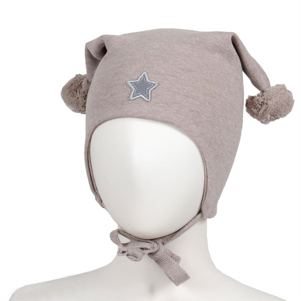 WINDPROOF HAT, STAR  Beige