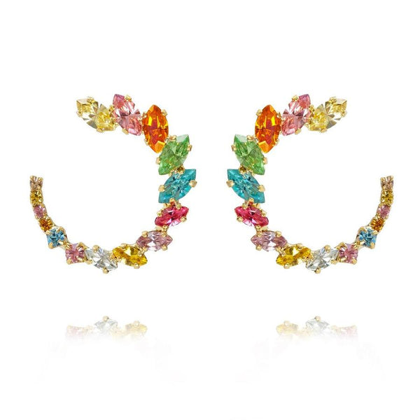 ANGIE EARRINGS GOLD  Rainbow Combo