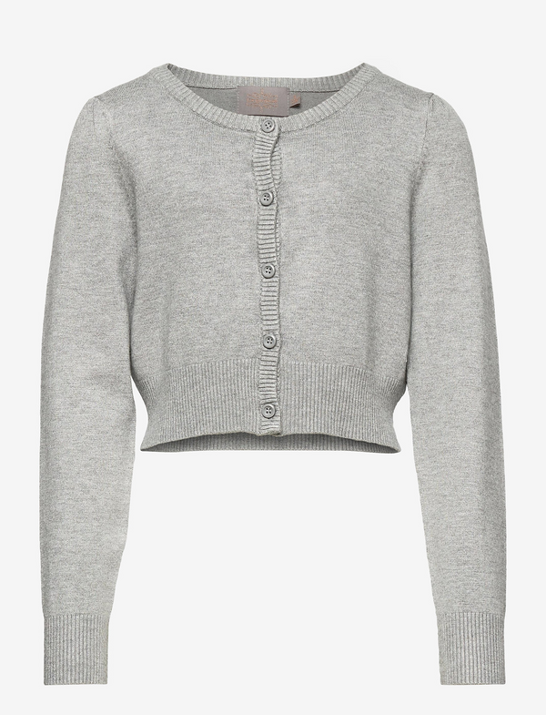 SHORT CARDIGAN  Light Grey Melange