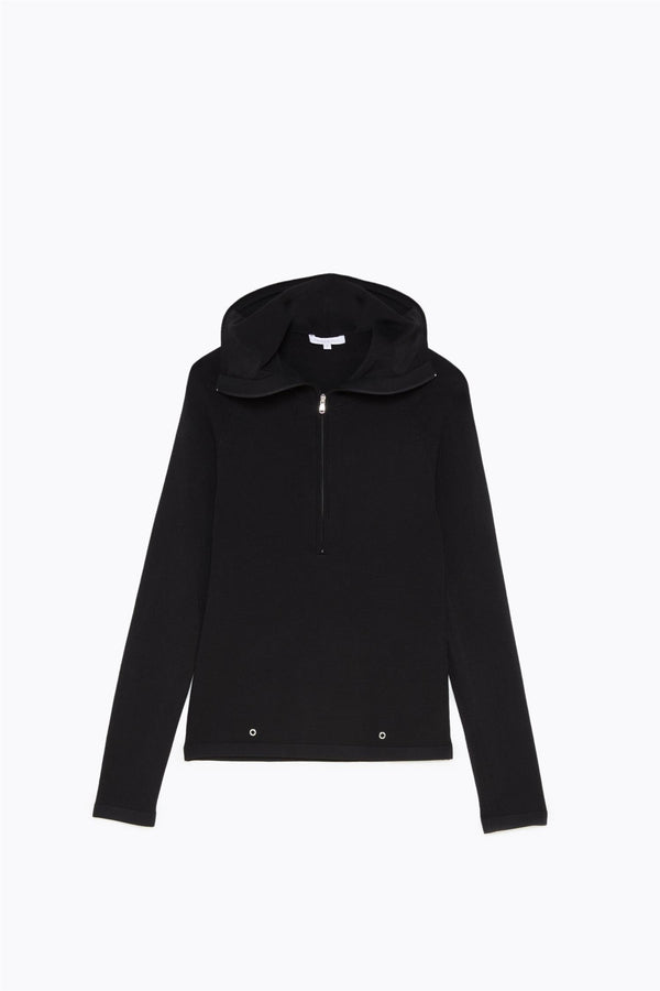 HOODED JUMPER  Sort