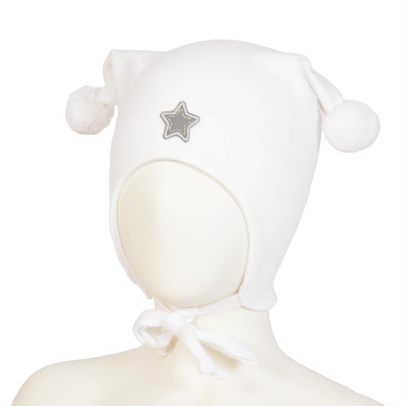 WINDPROOF HAT, STAR  White
