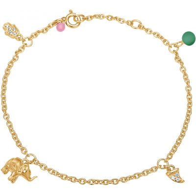 Bracelet, lucky charms  Gold