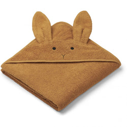 AUGUSTA HOODED TOWEL  Rabbit Mustard