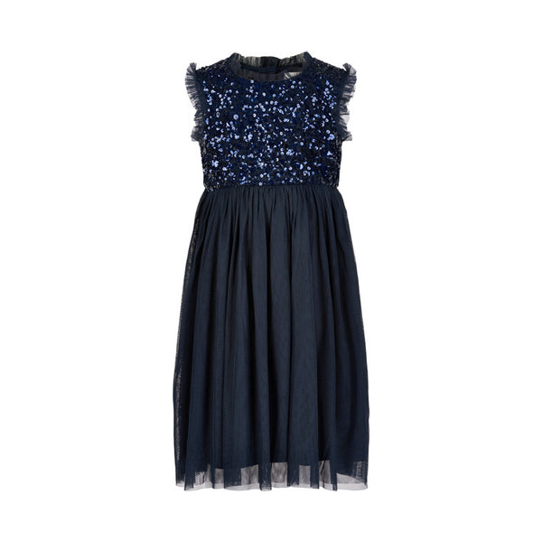 DRESS SEQUINS MINI GIRL  Total Eclipse
