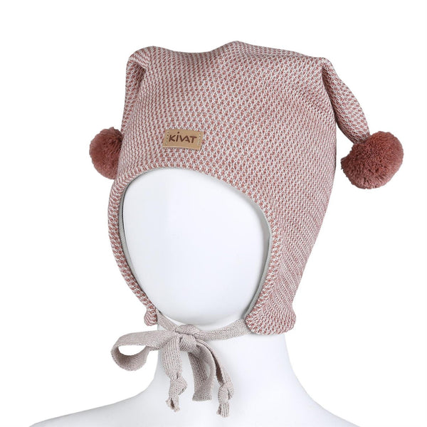 HAT WITH LOOP KNIT  Dus Rosa/Offwhite