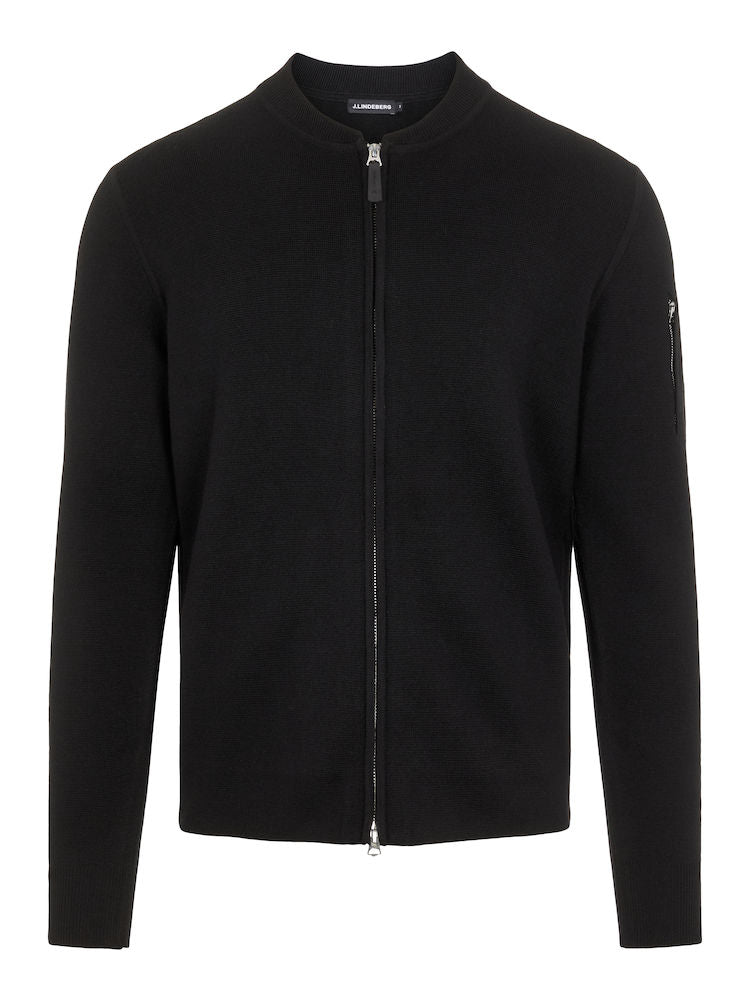 LANDON ZIP CARDIGAN  Black