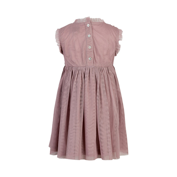 DRESS SEQUINS MINI GIRL  Deauville Mauve