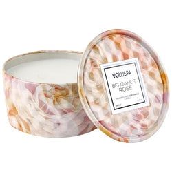 2-WICK TIN CANDLE  Bergamot Rose