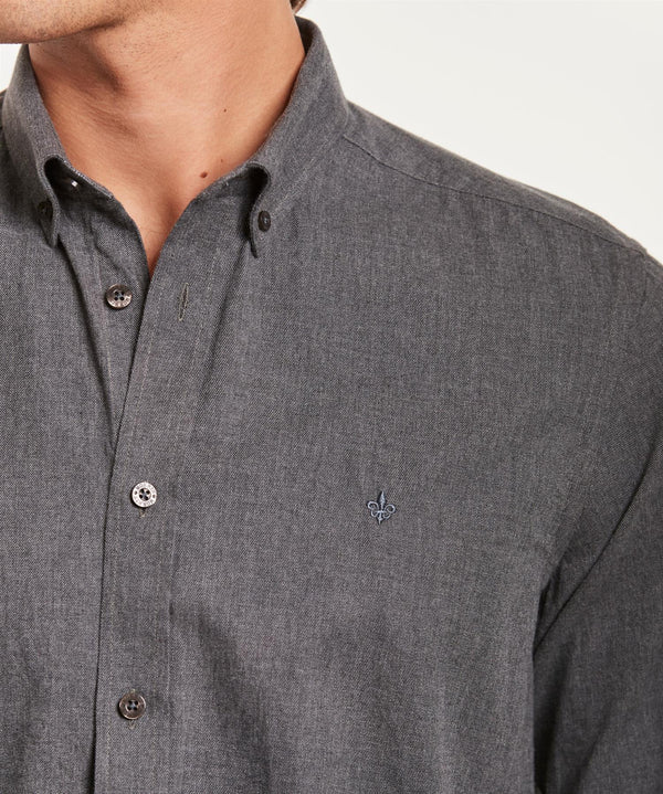 NELSON BUTTON DOWN SHIRT  Grey