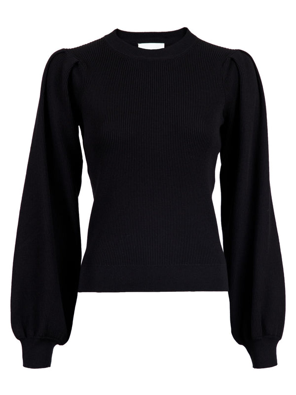 BEJA KNIT BLOUSE  Black