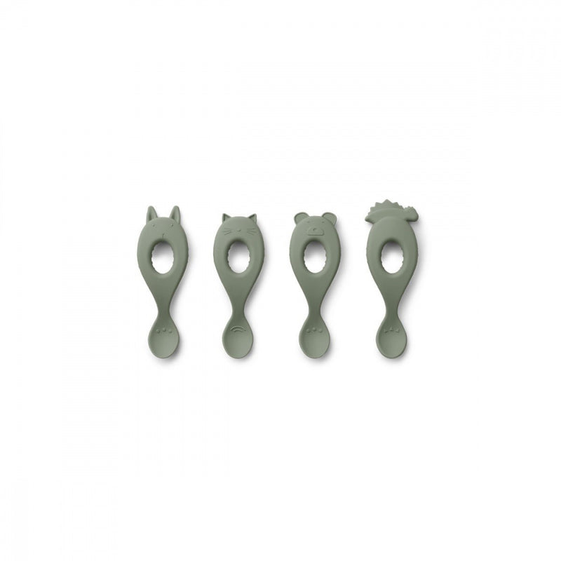 LIVA SILICONE SPOON 4PACK  Faune Green