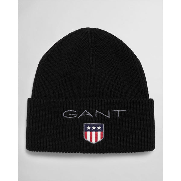 SHIELD RIB BEANIE  Black