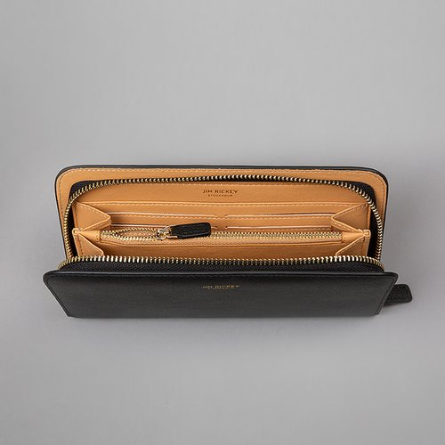 ZIP AROUND WALLET  Black