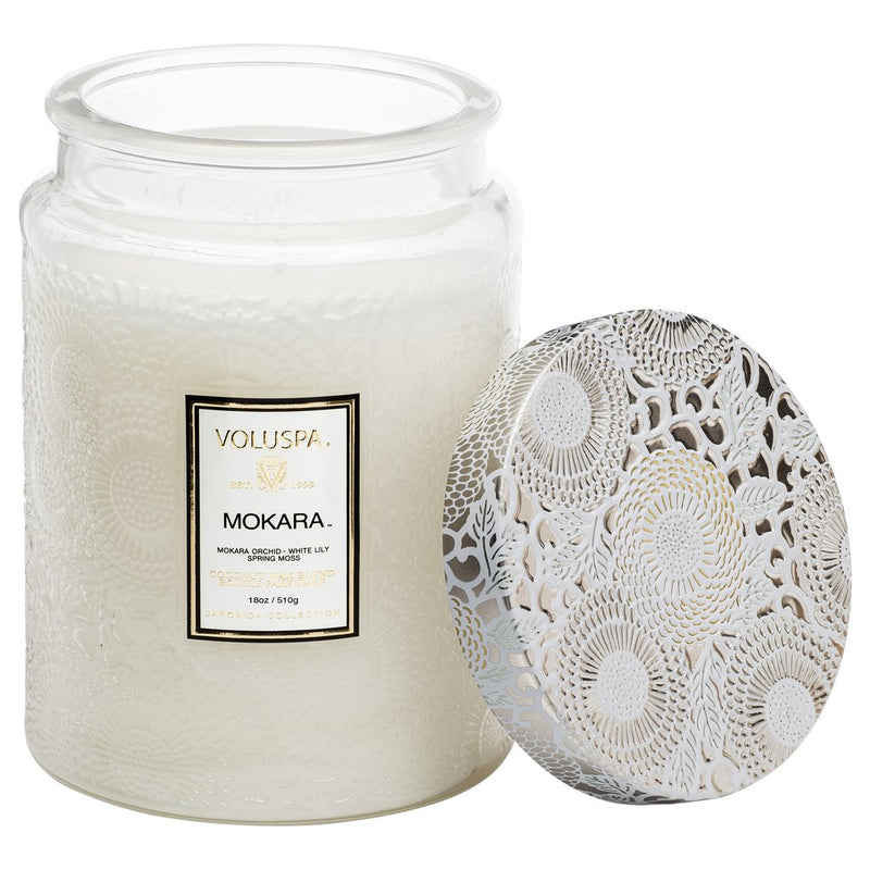 LARGE JAR CANDLE  Mokara