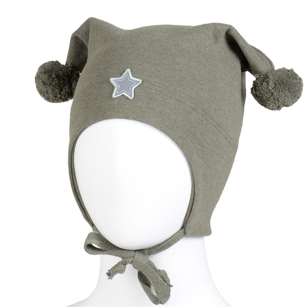 WINDPROOF HAT, STAR  Mørkegrønn