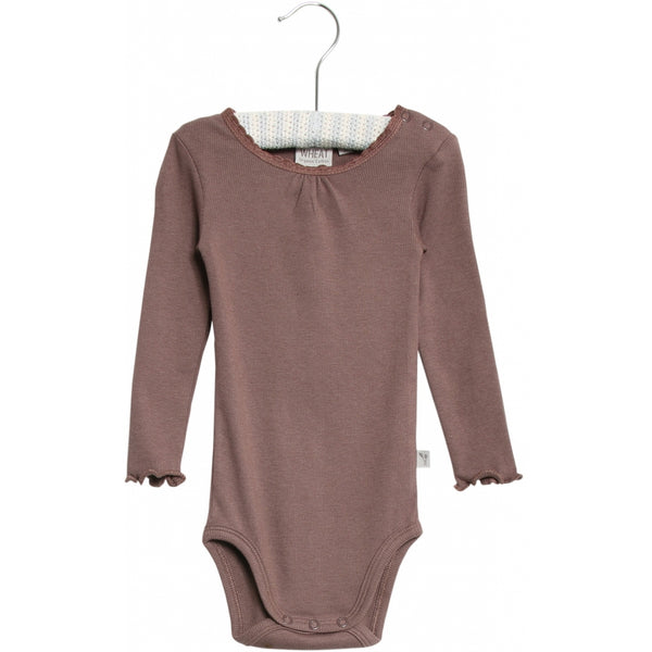 BODY RIB LACE LS  Powder Plum