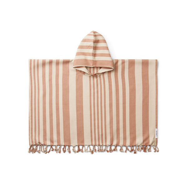 ROOMIE PONCHO  Y/D Stripe Tuscany Rose/Sandy