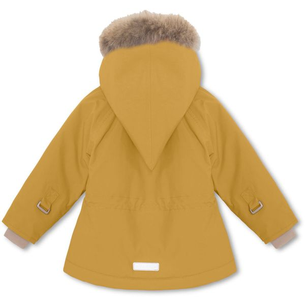 WANG FUR JACKET,M  Mørkegul