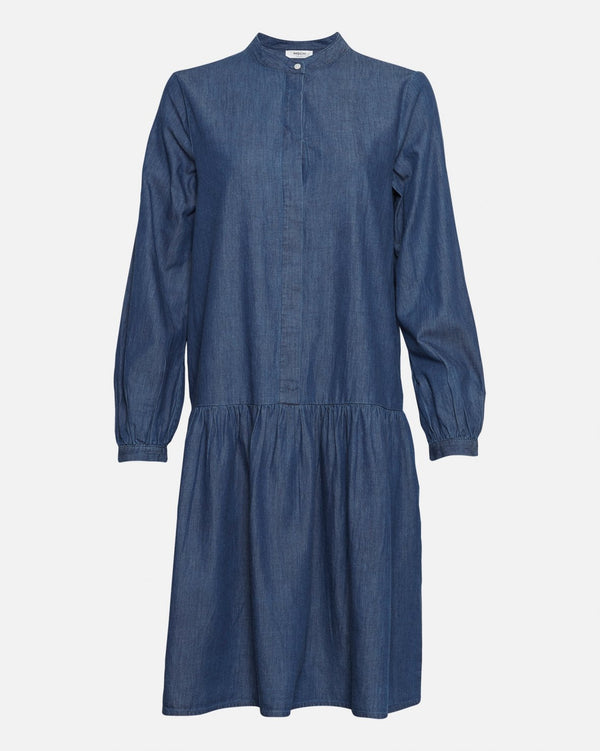 RIDA LYANNA LS DRESS  Mid Blue Wash