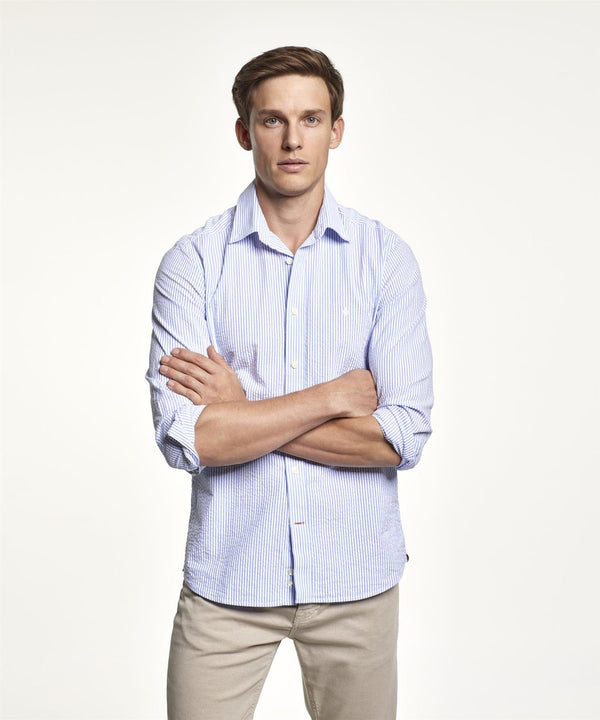 LUCAS BUTTON DOWN SHIRT  Blue