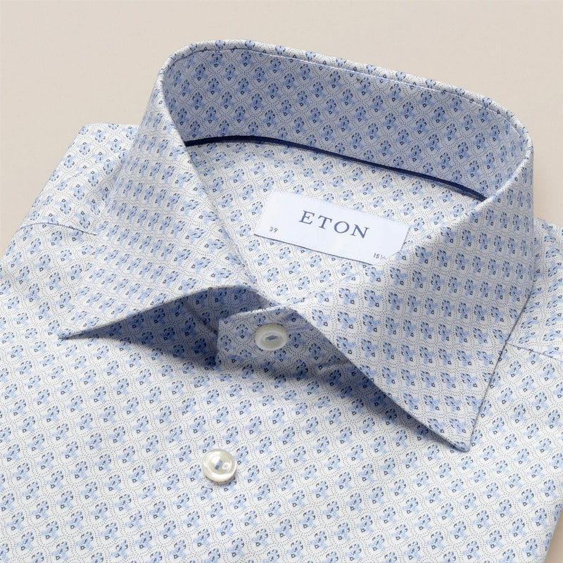 Poplin Shirt  Blue Medallion