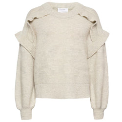 G SILVIA PANEL SWEATER  Light Grey Melange