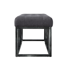 Load image into Gallery viewer, 24KF Upholstered Tufted Long Bench with Metal Frame Leg, Ottoman with Padded Seat-Dark Gray
