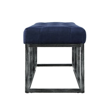 Load image into Gallery viewer, 24KF 48 Inch  Upholstered Tufted Long Bench with Metal Frame Leg, Ottoman with Padded Seat-Navy Blue