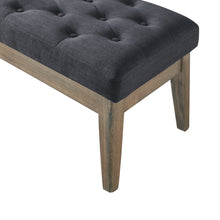Load image into Gallery viewer, 24KF Velvet Upholstered Tufted Bench with Solid Wood Leg,Ottoman with Padded Seat-Midnight