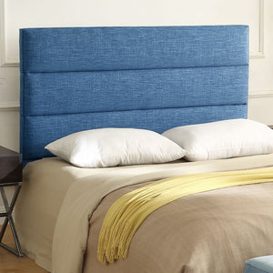 24KF Palisades Upholstered Headboard is Comfortable and on Style Queen/Full Size-Slate Blue