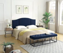 Load image into Gallery viewer, 24KF Middle Century Headboard Upholstered Tufted Copper Nails King/California King-Navy Blue …
