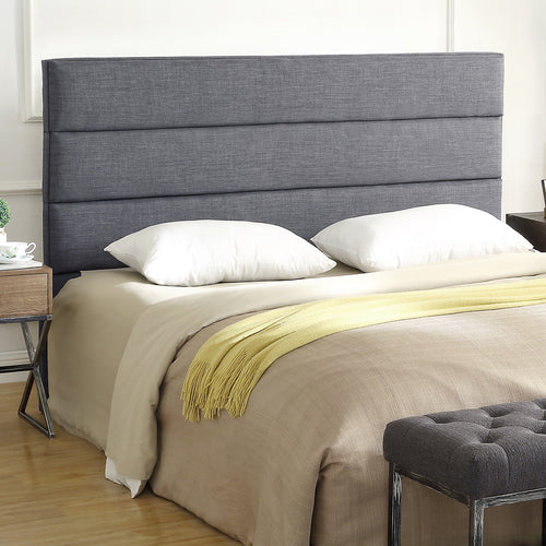 24KF Palisades Upholstered King Headboard is Comfortable and on Style King/California King Size-Dark Gray