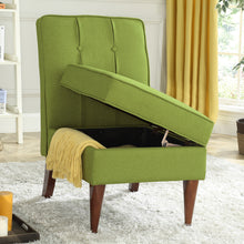 Load image into Gallery viewer, 24KF Accent Chair with Storage Modern Design Button Back -Green