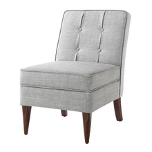 Load image into Gallery viewer, 24KF Modern Design Button Back Accent Chair with Storage-Light Gray