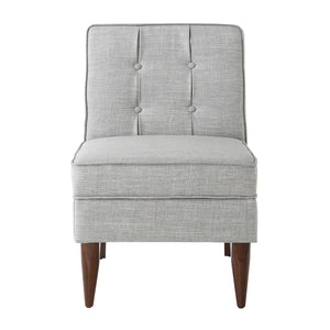 24KF Modern Design Button Back Accent Chair with Storage-Light Gray