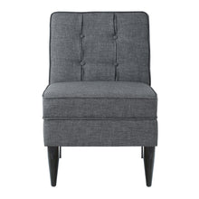 Load image into Gallery viewer, 24KF Accent Chair with Storage Modern Design Button Back -Dark Gray