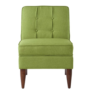 24KF Accent Chair with Storage Modern Design Button Back -Green
