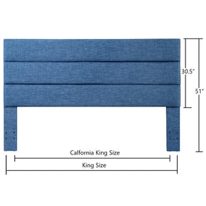 24KF Palisades Upholstered Headboard is Comfortable and on Style King/California King Size-Slate Blue