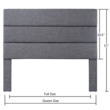 Load image into Gallery viewer, 24KF Palisades Upholstered Queen Headboard is Comfortable and on Style Queen/Full Size-Dark Gray