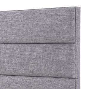 24KF Palisades Upholstered Headboard is Comfortable and on Style Queen/Full Size-Light Gray