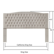 Load image into Gallery viewer, 24KF Upholstered Button Tufted Headboard is Comfortable and Classical King/California King Size- Ivory
