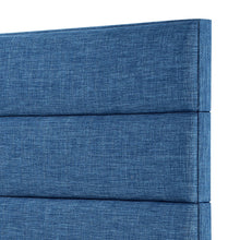 Load image into Gallery viewer, 24KF Palisades Upholstered Headboard is Comfortable and on Style King/California King Size-Slate Blue