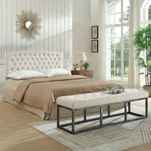 Load image into Gallery viewer, 24KF Upholstered Button Tufted Headboard is Comfortable and Classical Queen/Full Size-Ivory
