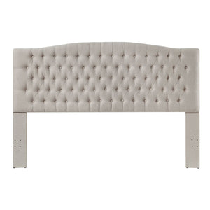 24KF Upholstered Button Tufted Headboard is Comfortable and Classical King/California King Size- Ivory