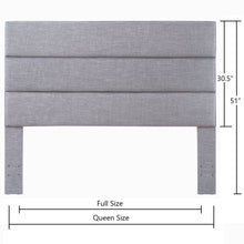 Load image into Gallery viewer, 24KF Palisades Upholstered Headboard is Comfortable and on Style Queen/Full Size-Light Gray
