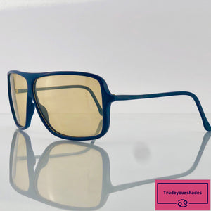 Vintage 1970's Blue Funky Sunglasses gucci.