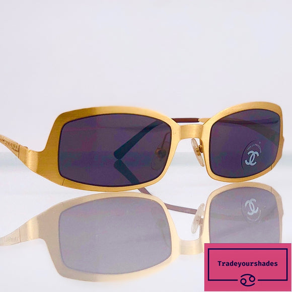 Chanel 4022 c140/93 Brushed Gold  Sunglasses gucci.